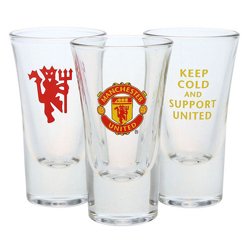 Manchester United Snapsglas 3-pack QW